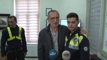 Fatih Altaylı, tartıştığı polisle kucaklaştı, helallik istedi