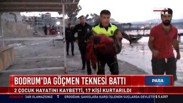 Muğla'da göçmen teknesi battı