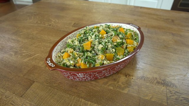 Balkabaklı Çekirdekli Bulgur Salatası