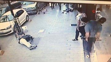 Fatih'te Tacikistanlıların ölümlü kavgası kamerada