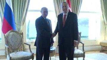Cumhurbaşkanı Erdoğan Putin ve Merkel ile görüştü