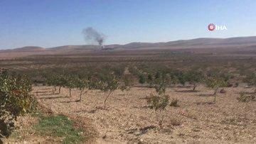 Süleyman Şah türbesi yakınındaki sınır karakoluna saldırı... Yükselen dumanlar kamerada