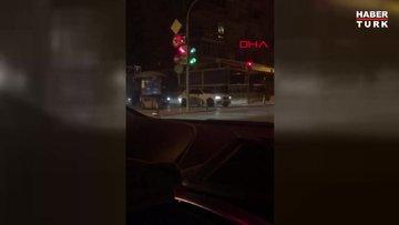 Bağdat Caddesi'nde polis drift yapan sürücüye göz açtırmadı