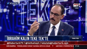 Kalın'dan, ABD'nin PKK hamlesine ilişkin açıklama