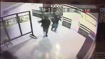 Pitbull okula girdi... Öğrencilerin yaşadığı büyük panik kamerada