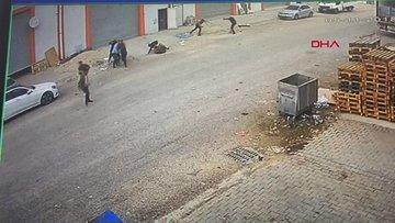 1 Kişinin öldüğü, 4 kişinin yaralandığı komisyon kavgasının görüntüleri dehşete düşürdü