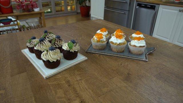 Mini Cupcake ve Sebzeli Tuzlu Muffin
