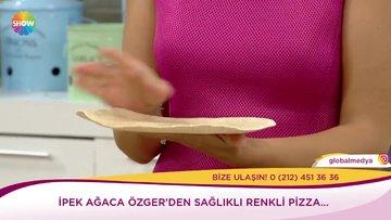 Renkli diyet pizza tarifi