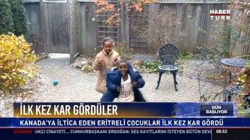 İlk kez kar gördüler: Kanada'ya iltica eden Eritreli çocuklar ilk kez kar gördü