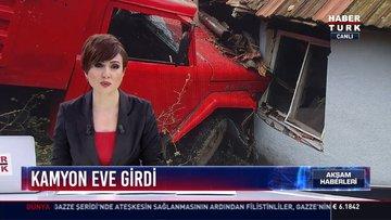 Kamyon eve girdi: Zonguldak'ta freni boşalan kamyon evdeki kadını yaraladı