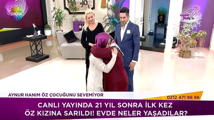 21 yıl sonra öz kızına sarıldı!