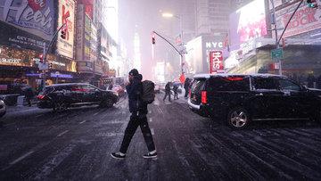 Kar fırtınası ABD'yi esir aldı