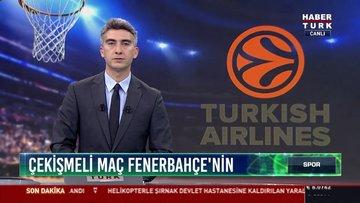 Çekişmeli maç Fenebahçe'nin: THY Eurolegue'de deplasmanda Olymiakos'u 73-72 yendi