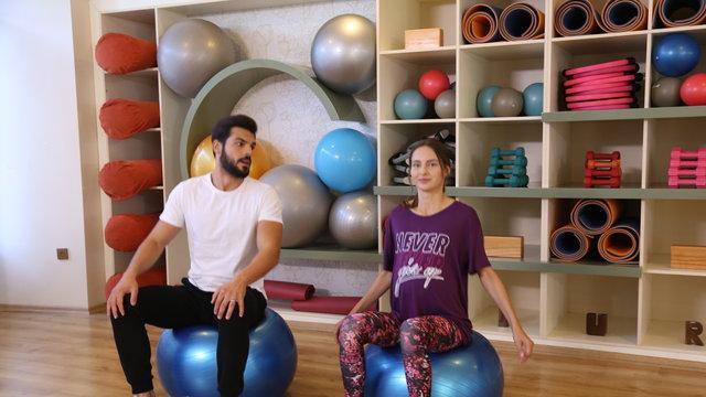Bella ve Hazar pilateste!