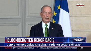 Bloomberg'den rekor bağış