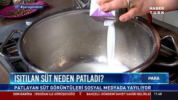 Isıtılan süt neden patladı?