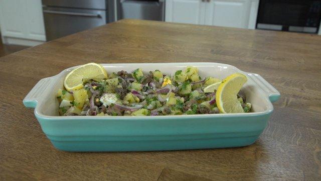 Tavuk Ciğerli Patates Salatası