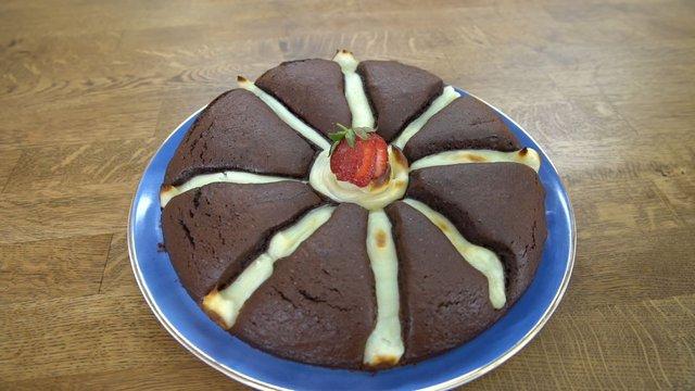 Muhallebisi ile pişen kek