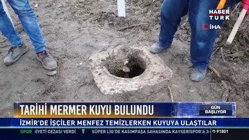 Tarihi mermer kuyu bulundu: İzmir'de işçiler Menfez temizlerken kuyuya ulaştılar