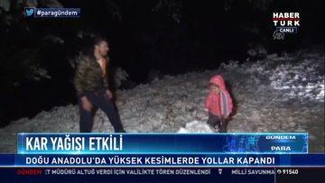 Kar yağışı etkili: Doğu Anadolu'da yükses kesimlerde yollar kapandı