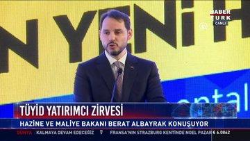 TÜYİD Yatırımcı zirvesi: Hazine ve Maliye Bakanı Berat Albayrak konuşuyor