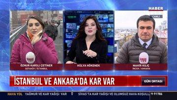 İstanbul ve Ankara'da kar var: İki kentin yükses kesimlerine aralıkla yağıyor