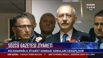 Sözcü Gazetesi ziyareti: Kılıçdaroğlu ziyaret sonrası soruları cevaplıyor
