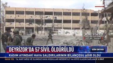 Deyrizor'da 57 sivil öldürüldü: Kasım ayındaki hava saldırılarının bilançosu ağır oldu