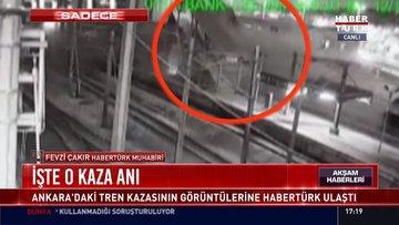 İşte Ankara'daki tren kazasının görüntüleri