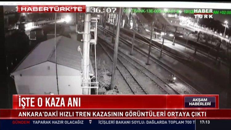 İşte o kaza anı: Ankara'daki hızlı tren kazasının görüntüleri ortaya çıktı