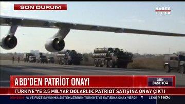 ABD'den patriot onayı: Türkiye'ye 3.5 milyar dolarlık Patriot satışına onay çıktı