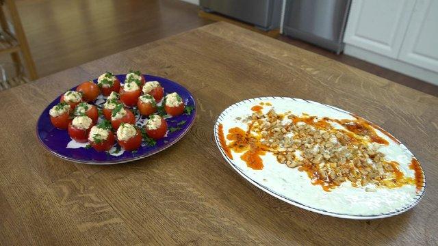 Paşa mezesi ve patlıcanlı meze