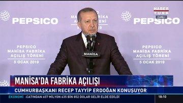 Cumhurbaşkanı Erdoğan Manisa'da fabrika açılışında konuştu!
