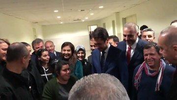 Cumhurbaşkanı Erdoğan ile genç kadın arasında renkli diyalog