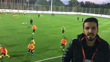 Galatasaray basına açık çalıştı