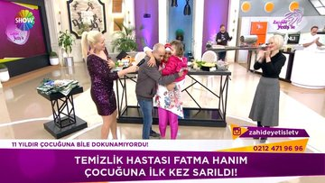 Fatma Hanım çocuğuna ilk kez sarıldı!