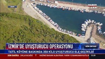 İzmir'de uyuşturucu operasyonu: Tatil köyüne baskında 350 kilo uyuşturucu ele geçirildi