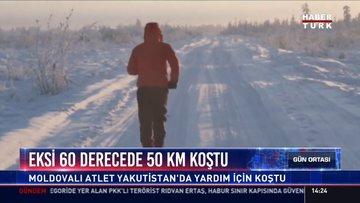 Eksi 60 derecede 50 KM koştu: Moldovalı Atlet Yakutistan'da yardım için koştu