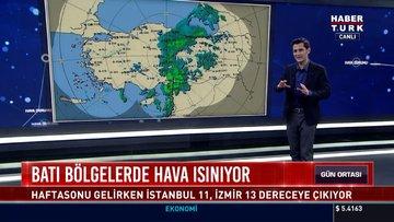 Batı bölgelerde hava ısınıyor: Haftasonu gelirken İstanbul 11, İzmir 13 dereceye çıkıyor