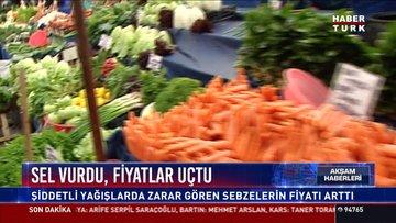 Sel vurdu, fiyatlar uçtu: Şiddetli yağışlarda zarar gören sebzelerin fiyatı arttı