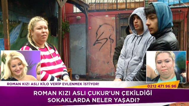 Roman kızı Aslı Çukur'un çekildiği mahallede!