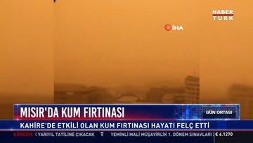 Mısır'da Kum fırtınası: Kahire'de etkili olan kum fırtınası hayatı felç etti