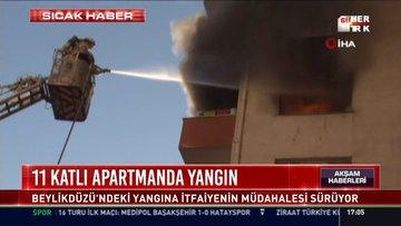 11 katlı apartmanda yangın: Beylikdüzü'ndeki yangına itfaiyenin müdahelesi sürüyor