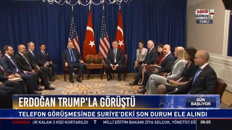 Erdoğan Trump'la görüştü: Telefon görüşmesinde Suriye'deki son durum ele alındı