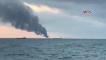 Kerç Boğazı'nda yanan gemiler 11 kişi hayatını kaybetti!