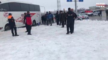 Malatya'da 2 otobüs çarpıştı, yaralılar var