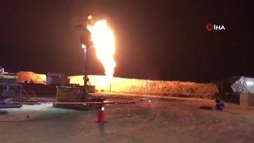 Tekirdağ'da bulunan doğalgazın çıkış anının görüntüleri ortaya çıktı