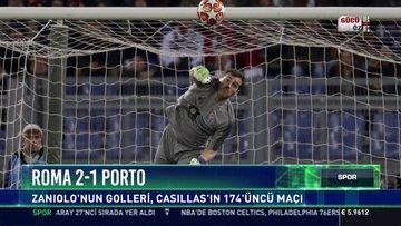 Roma 2-1 Porto: Zaniolo'nun golleri, Casillas'ın 174'üncü maçı