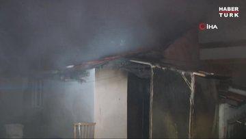 Eskişehir'de sobadan sıçrayan alevler evi yaktı