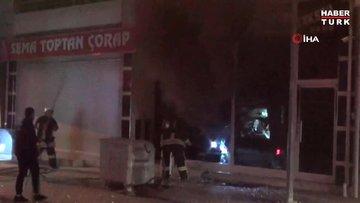Çorum'da tekstil atölyesi yangını: 1 yaralı